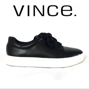 Vince Bale Leather Lace-Up Sneakers